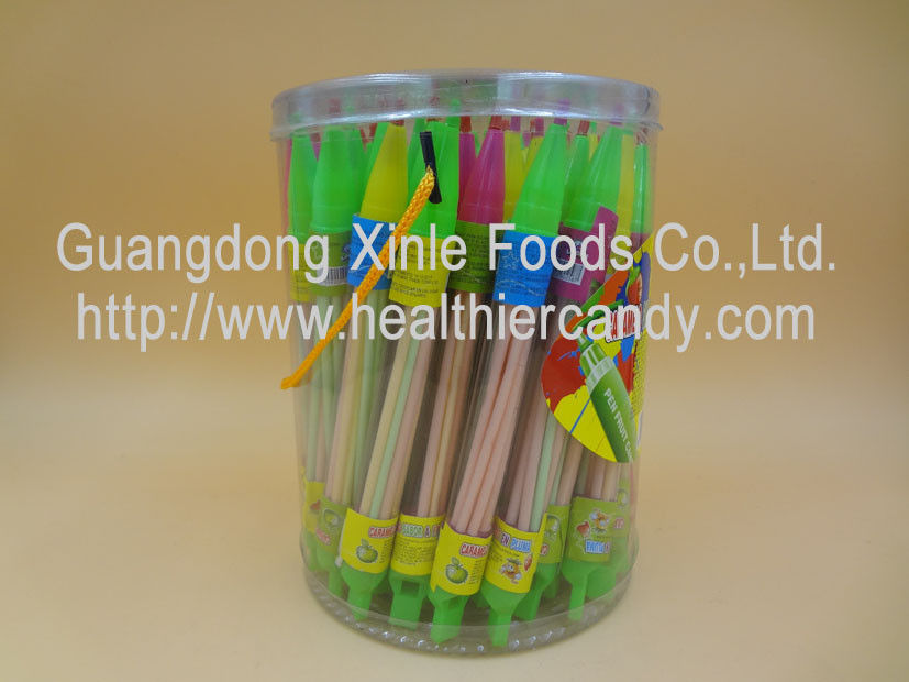 Whistle Pen Sweet Sour CC Sticks Candy With Red / White / Pink Colour