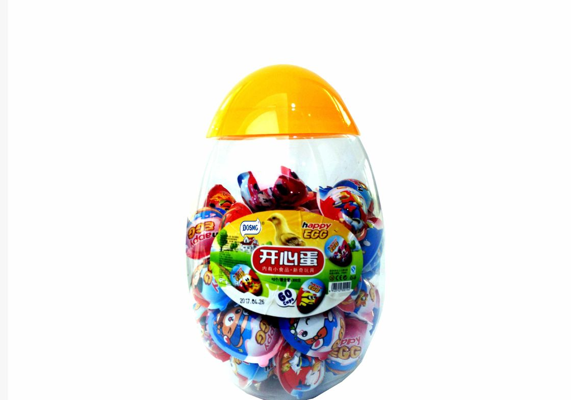Happy Egg Jelly bean with funny toy / Novelty egg shape candy packed in