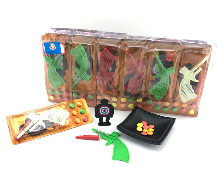 3.4g Shooting Battlefield Tasty Novelty Candy Toys Compressed With Gun Multi Fruit Flavor